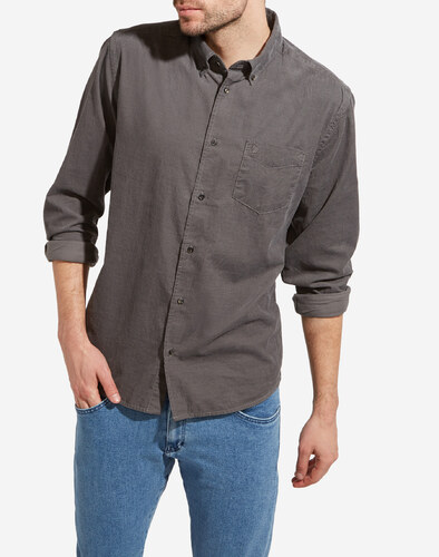 košile Wrangler BUTTON DARK GREY W5976N92T - Glami.cz a01ab815ec