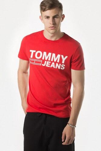 Tričko - TOMMY HILFIGER TJM BASIC CN T-SHIRT S S 37 červené - Glami.sk e3ba66d53b2