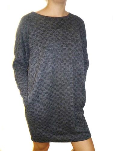 NoName Dámské úpletové šaty s kapsami šedá - Glami.cz 91482356bb