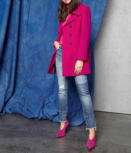 Ashley Brooke Vlnený kabát s kontrastnými gombíkmi e836e388a0f