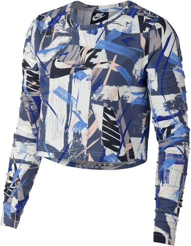 c8738004167f Triko Nike AOP LS TopLd84 Blue White - Glami.cz