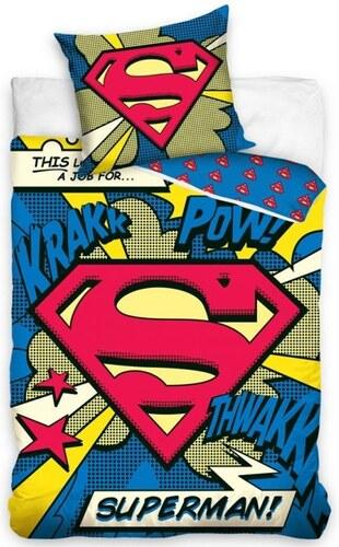 fb05b8ead Carbotex Bavlnené posteľné návliečky Superman - Glami.sk