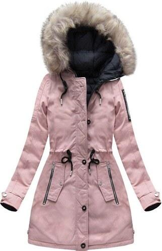 The SHE Ružová obojstranná dámska zimná bunda - Glami.sk 8103d377073