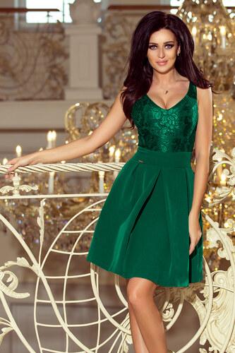 NUMOCO Zelené šaty s hlbokým výstrihom 208-4 - Glami.sk 62437d3de9d
