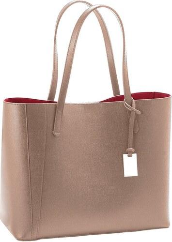 Béžová kabelka z pravej kože Andrea Cardone Kesner - Glami.sk e7f8665a3d1