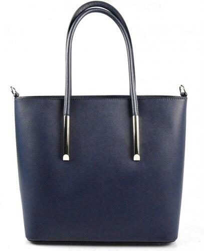 49f7864a6082 Kožená luxusní tmavě modrá kabelka přes rameno cherril VERA PELLE 26084