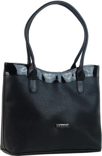 Čierna elegantná dámska kabelka cez rameno S742 GROSSO - Glami.sk ca742df96de