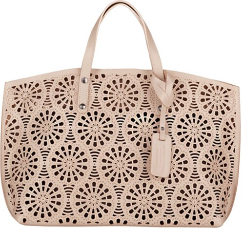 Kožená shopper bag kabelka Vera Pelle SB543N růžová - Glami.cz d4ca35fef13