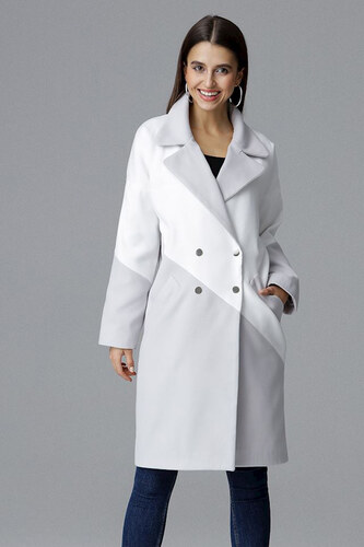 Figl Sivo-biely kabát M626 - Glami.sk 8c1227f550c