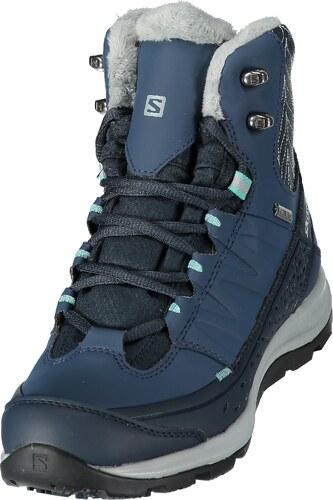 f681b540b8f Dámské zimní boty SALOMON KAÏNA MID GTX DEEP BLUE SLATE BLUE BUBBLE BLUE