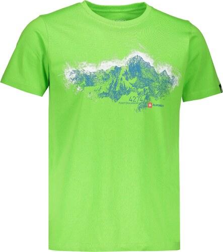 Pánské tričko s krátkým rukávem ALPINE PRO UNEG 5 MTSL255 ZELENÁ ... 36aa1a8342f