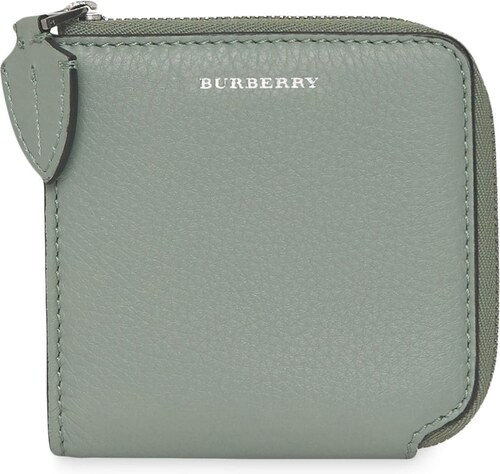 Burberry Grainy Leather Square Ziparound Wallet - Grey - Glami.sk c1bfaf24112