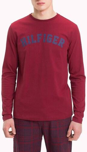 08b508dd5 Tommy Hilfiger vínové pánske tričko LS Tee Logo - Glami.sk