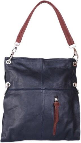 ITALSKÉ Kožená kabelka přes rameno Fulvia modrá s čokoládovou - Glami.cz 5148a55a1d