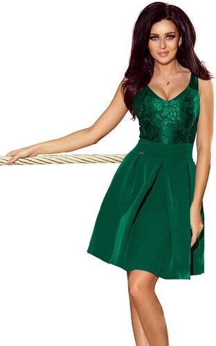numoco Dámské společenské šaty bez rukávů se skládanou sukní zelené ... 090984cfe1
