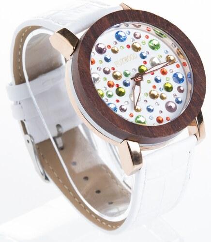 4bc94b7cc Dámské dřevěné hodinky Foxwood Diamonds - Glami.cz