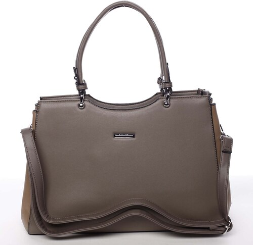 77cb101eee Stredná elegantná dámska kabelka do ruky hnedá - Silvia Rosa Nevah hnedá