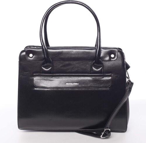 a2cb399359 Elegantná pevná dámska kabelka do ruky čierna - Silvia Rosa Takeon čierna