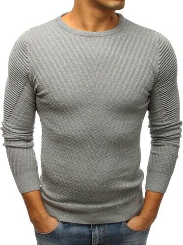 bfe1ba79e4b7 Buďchlap Elegantný šedý sveter - Glami.sk