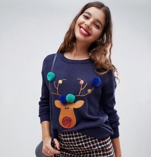 Bravesoul Dámský vánoční svetr Brave Soul Xmas s jelenem Reindeer ... 5875477139