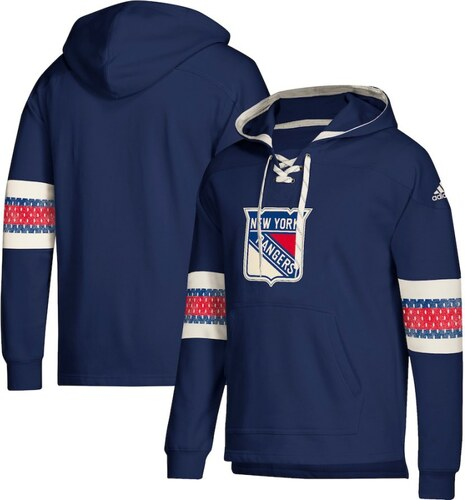 48f57df832 New York Rangers férfi kapucnis pulóver blue Adidas Jersey Lace-Up Pullover  Hoodie