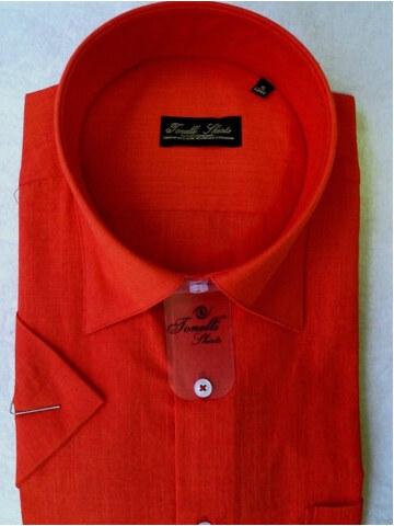 2b40cca3a408 Červená pánska košeľa krátky rukáv Tonelli 110801 - Glami.sk