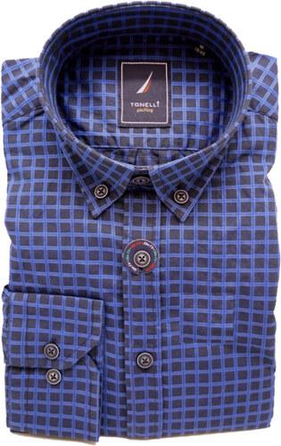 6e5f16615688 Modrá pánska košeľa dlhý rukáv rovný strih Tonelli 110913 - Glami.sk