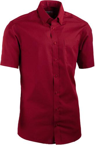 f646f1d9d57c Červená pánska košeľa slim fit s krátkym rukávom Aramgad 40334 ...