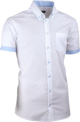 98630d947d91 Biela pánska košeľa slim fit 100% bavlna Assante 40009 - Glami.sk