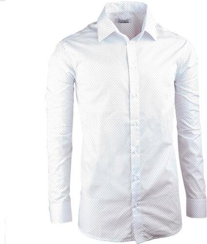 75d4a82a4a14 Biela elegantná košeľa vypasovaná slim fit Aramgad 30047 - Glami.sk