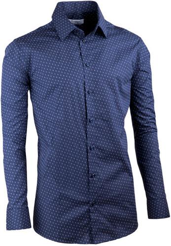 7e99c964efbe Tmavo modrá elegantná košeľa vypasovaná slim fit Aramgad 30432 ...