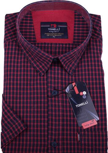 5714a63dddf1 Červená pánska košeľa krátky rukáv Tonelli 110807 - Glami.sk