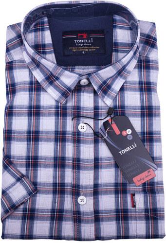 0564825f0515 Modrá pánska košeľa 100% bavlna Tonelli 110812 - Glami.sk