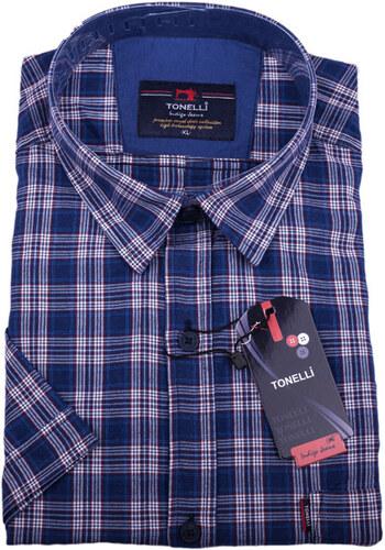 ada1cf0d5db2 Modrá pánska košeľa 100% bavlna Tonelli 110816 - Glami.sk