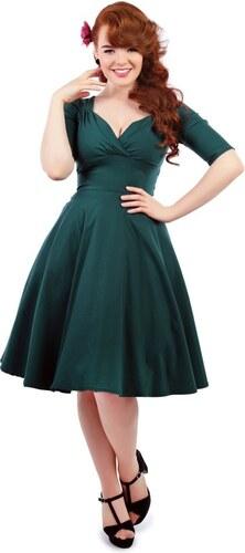 COLLECTIF Dámské retro šaty Trixie Doll zelené b7b76ec80d