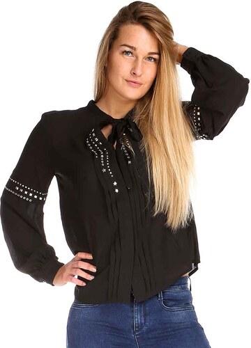 GUESS Dámská košile s dlouhým rukávem černá W74H83W96T0-A996 - Glami.cz eccf14ec5a