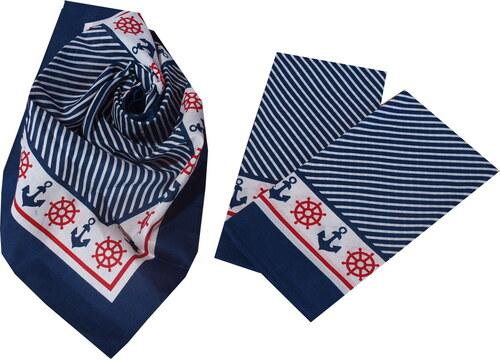 Etex s.r.o Bavlněný námořnický šátek modrý 55x55 - Glami.cz c49d3a5fca