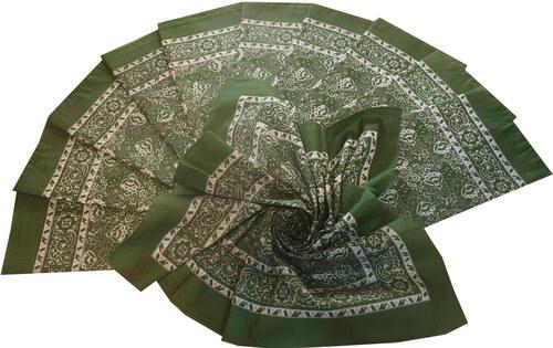 2685b34c05c Výrobce Bavlněný šátek velký zelený květovaný - Glami.cz