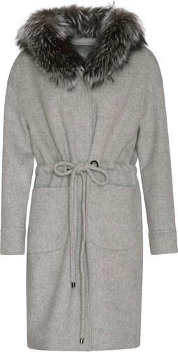 5a995d995d8 Dámský kabát s kožešinovým límcem (399585S) Kara - Glami.cz