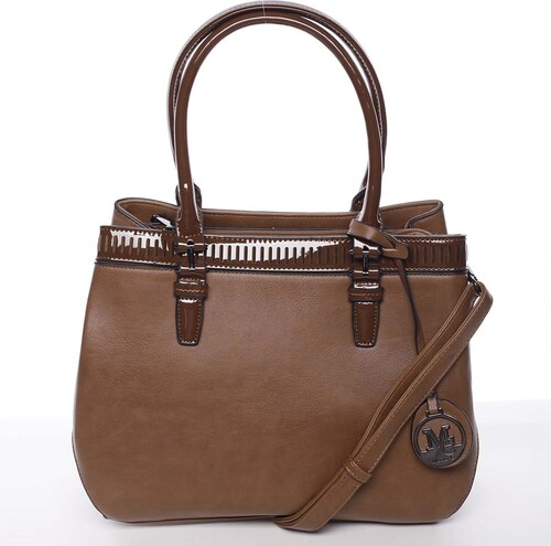 Elegantná a štýlová hnedá kabelka cez rameno - MARIA C Thalassa hnedá a7179fb6388