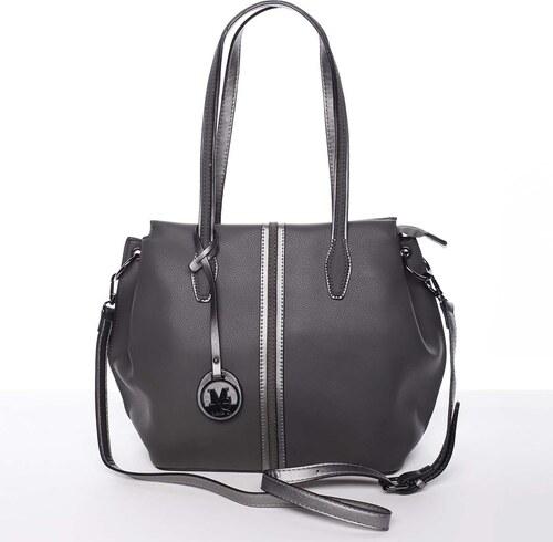 c65aa7025c -40% Štýlová dámska kabelka cez rameno sivá - MARIA C Veronica šedá