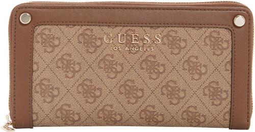 e847d3e9f6 GUESS peňaženka Florence Logo Check Organizer hnedá