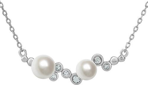 5e8275f71 Silvego Strieborný perlový náhrdelník ILUMIA JJJN0972 - Glami.sk