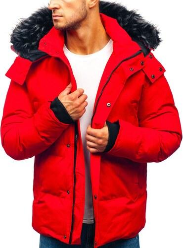 ec00abf18 Červená pánska zimná bunda BOLF 201821 - Glami.sk
