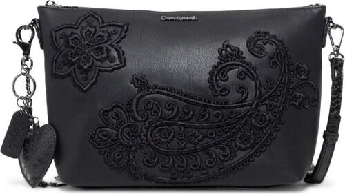 Desigual černá kabelka Bols Cachemire Catania - Glami.cz 49a3bf19f4d