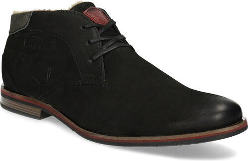 Bugatti Zimná pánska kožená obuv čierna - Glami.sk 220b66d845c