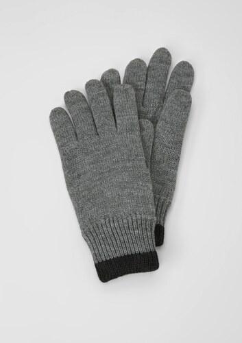 75fc2e9e4a8 s.Oliver Pletené rukavice s flísovou podšívkou - Glami.cz