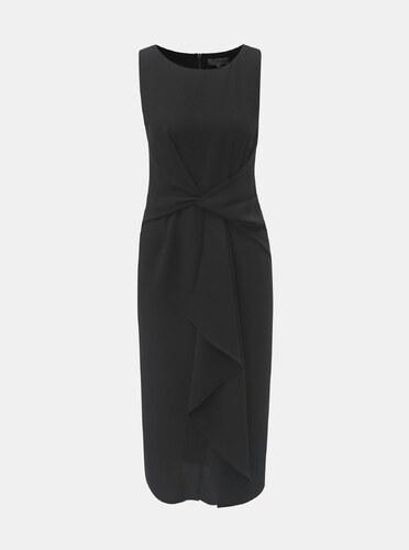 46f1e89c107 Čierne puzdrové šaty s volánom v prednej časti Dorothy Perkins ...