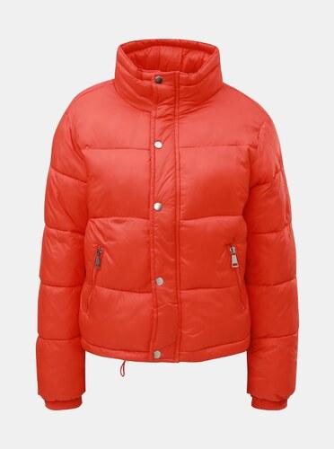 Oranžová prešívaná nadýchaná krátka zimná bunda TALLY WEiJL - Glami.sk ddd93a184ae
