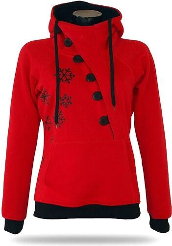 Barrsa Dámska mikina s kapucňou cez hlavu Barrs Frozen Red   Black ... 6fe73b4466a